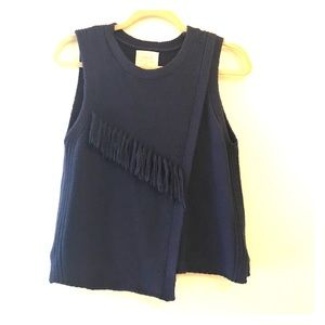 Anthropologie sweater top with cute fringe Nomad